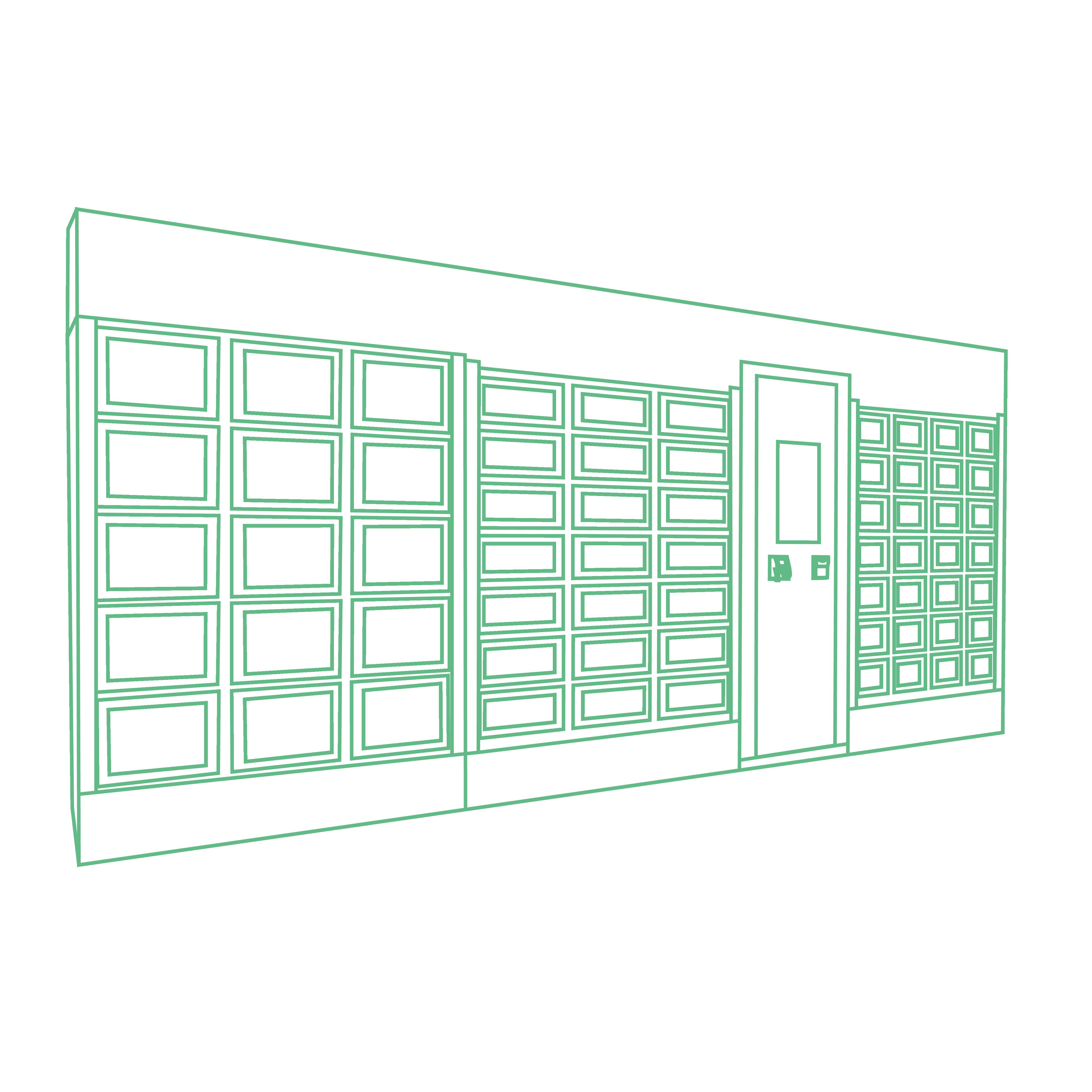 Personalization by a complete covering of a Le Casier Français vending machine