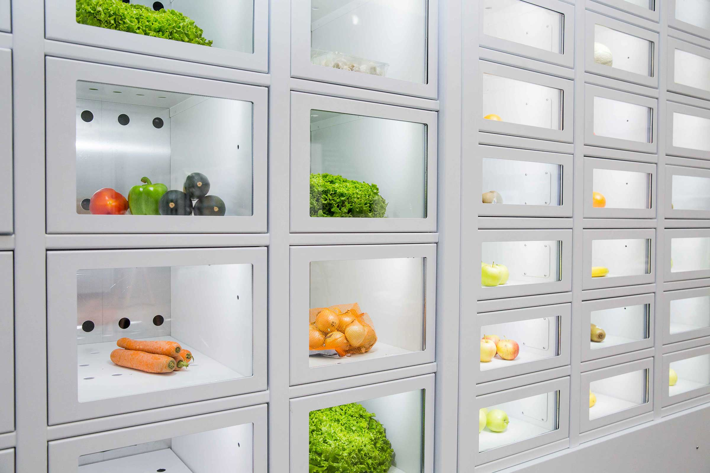 Vegetables in a French Locker, the automatic distributor of independent producers