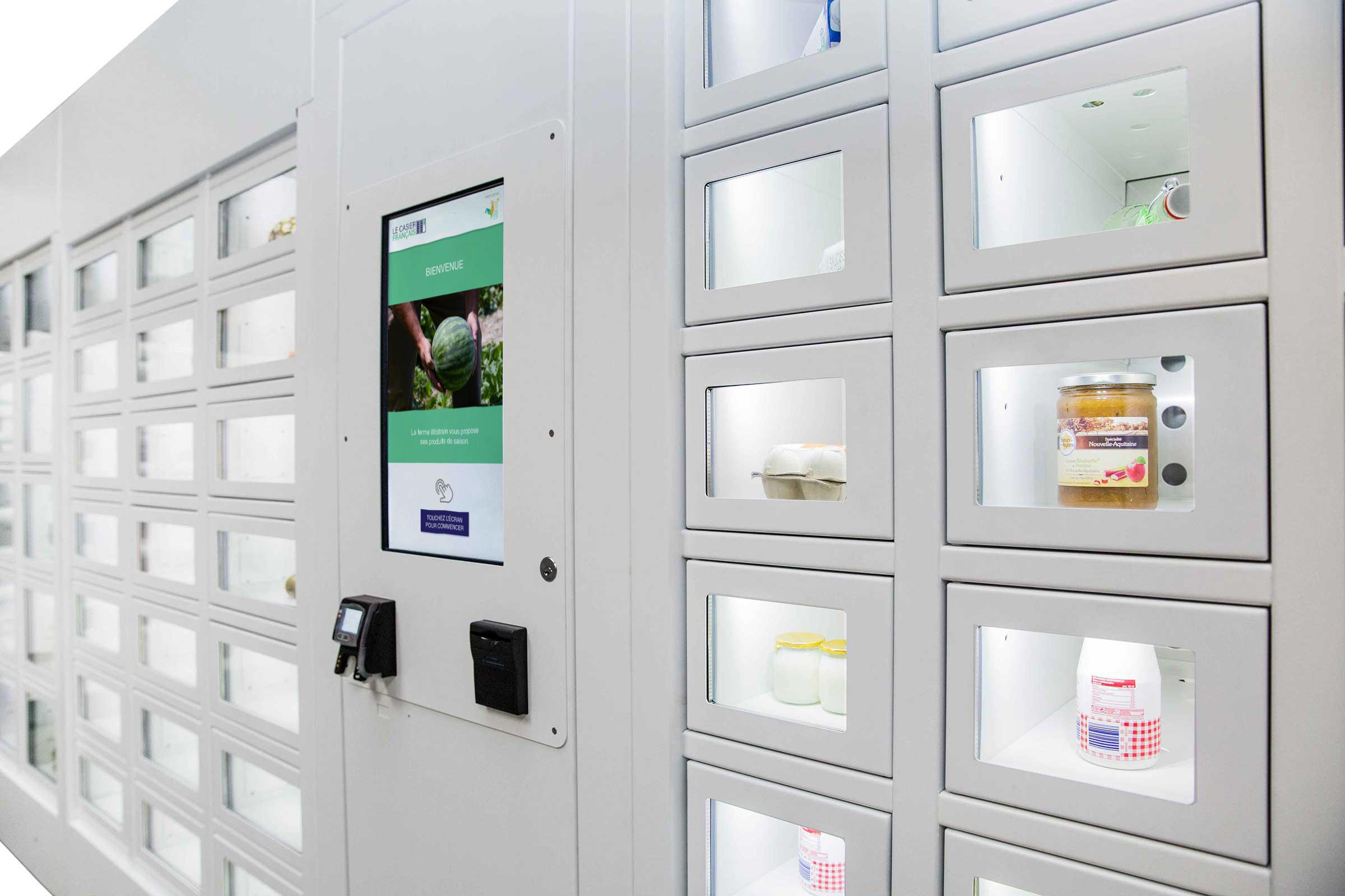 Dairy products in a Le Casier Français vending machine