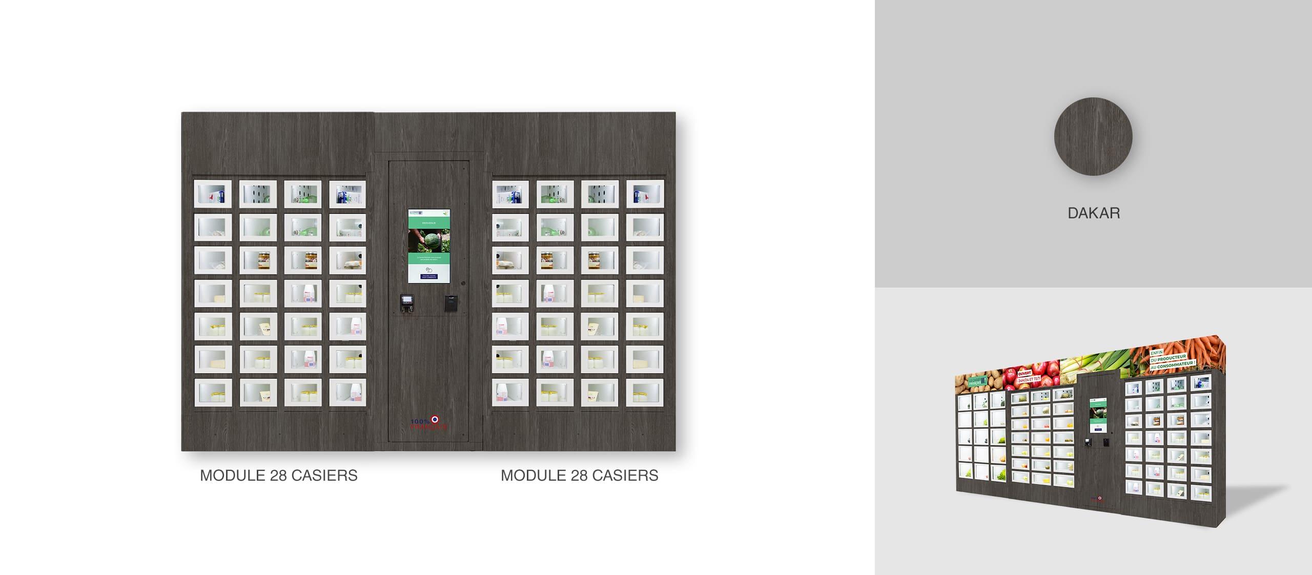 Dakar closing of a Le Casier Français vending machine