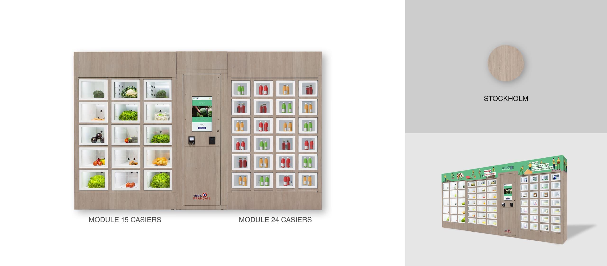 Stockholm casing of a Le Casier français vending machine